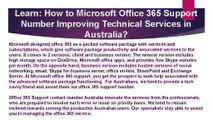 Microsoft Office 365 Support Number Improving Technical Services in Australia