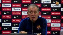Les declaracions d'Andreu Plaza i els jugadors del FC Barcelona Lassa abans d'afrontar la Copa d'Espanya de futbol sala