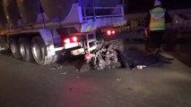 Eskişehir - Yol Kenarındaki Kamyona Çarpan Motosiklet Sürücüsü Öldü