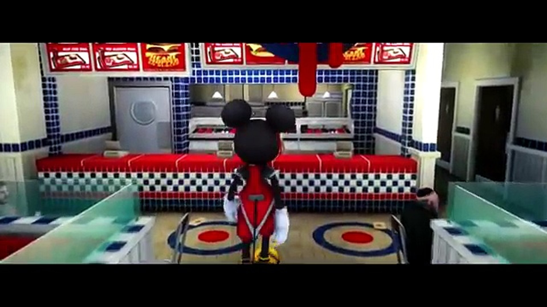 Mickey Mouse meets his best friend Disney Cars Lightning McQueen!