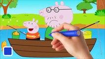 Peppa Pig Lollipops Finger family Nursery Rhyme Song Peppa pig Español Goes Fishing With H