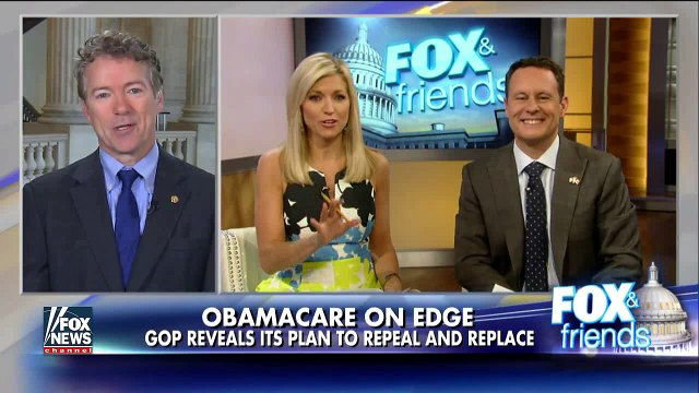 WATCH: Rand Paul says new 'Obamacare lite' bill is a BAILOUT for the insurance companies