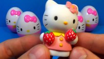 7 surprise eggs Kitty!!! HELLO KITTY eggs surprise unboxing toys for kids for ba