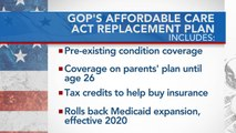 Trump touts support for GOP Obamacare replacement plan