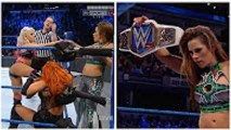 Alexa Bliss & Mickie James vs Becky Lynch & Natalya, Mickie Attacks Alexa WWE SMACKDOWN 7 March 2017