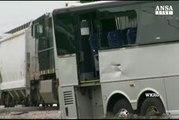 Usa: treno contro bus, quattro morti