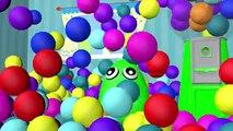 Aprender los Colores de la Colección 3D para los Niños | los Huevos Sorpresa de la Máquina de Bolas de Colores | Baby Doll Baño T