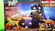 Angry Birds RISE of DARTH VADER GAME- Angry Birds STAR WARS II - Jenga DARTH MAUL PIG!