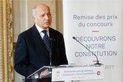 """[ARCHIVE] Remise des prix du concours """" Découvrons notre constitution """" : discours de Laurent Fabius"""