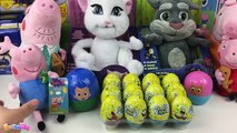 Surprise Eggs: Tom and Jerry Peppa Pig Spongebob Kinder Surprise Eggs