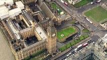 Aerial shots show Philip Hammond leaving Downing Street