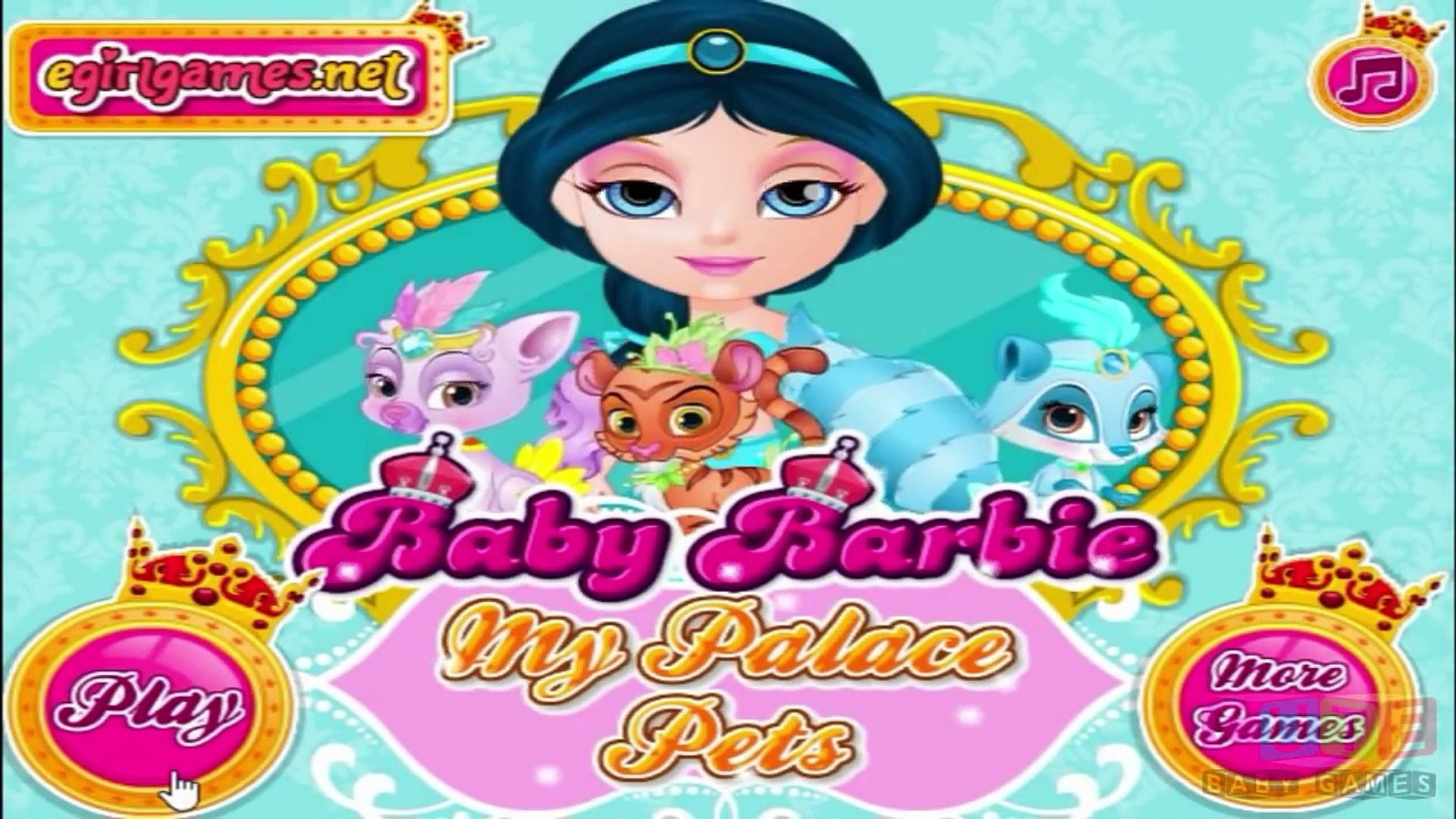 Baby Barbie My Palace Pets - Baby Game Video / Games for girls online.