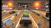 Stickman Downhill Monstertruck Racing Car Game Gameplay Cartoon for Kids