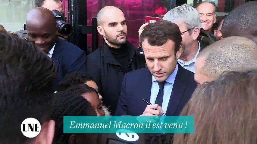 Une enfant ravie de voir Emmanuel Macron - La Nouvelle Edition - 08/03/2017