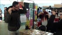 Le Professeur Djack en mode danse ridicule au Senyu