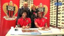 OGC Nice : Dante et Ricardo en dédicaces avec leurs supporters
