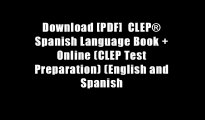 Download [PDF]  CLEP? Spanish Language Book + Online (CLEP Test Preparation) (English and Spanish