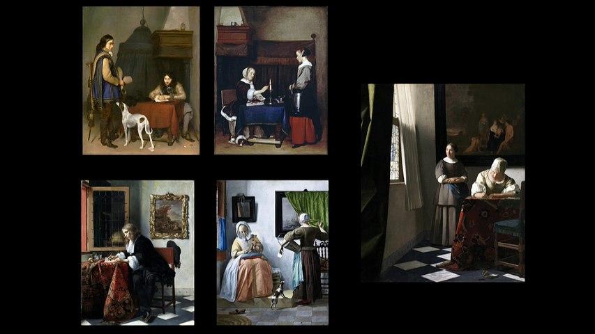 Présentation de l'exposition « Vermeer et les maîtres de la peinture de genre » au musée du Louvre