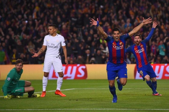 Barcelone - PSG - Le but d'entrée de Suarez !
