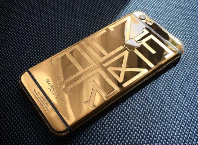 Le téléphone en or 24K de Neymar