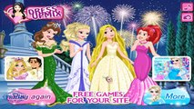 Замороженные Принцесса Эльза, Рапунцель, Ариэль и Белль конкурс красоты Эльза замороженные одеваются игры для детей