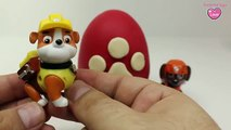 Paw Patrol Play Doh Surprise Eggs Paw Patrol Rocky Paw Patrol Rubble Zuma Toys Surprises