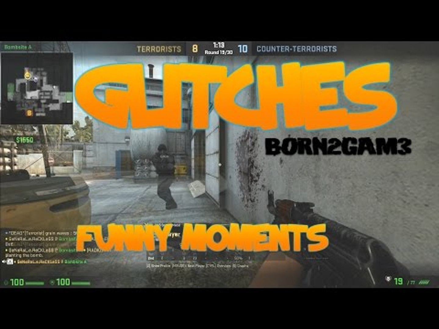 GLITCHES - CS GO Funny Moments in Competitive