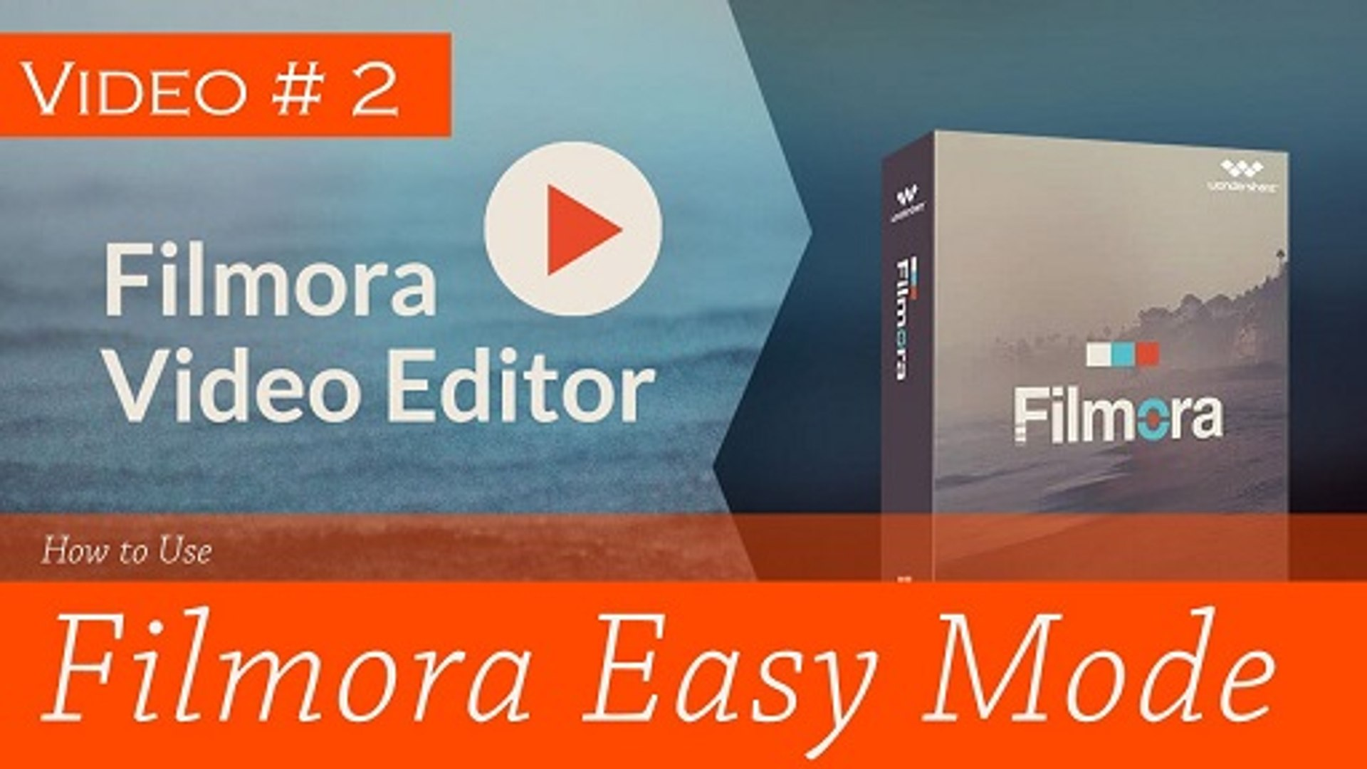 how to make and Edit videos with Easy Mode of wondershare filmora software