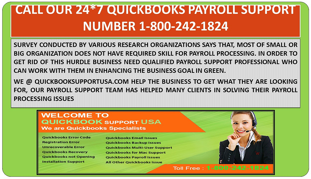 QuickBooks Payroll Support Phone Number | QuickBooks Online Support USA