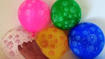 5 Fuegos artificiales Globos Dedo de la Familia de la Canción de Aprender los Colores Húmedos y con Globos para Bebés, Niño