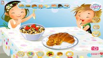Kid Fun Size Breakfast food! Making Pancakes in fun shapes for kids with Ryans Family Rev