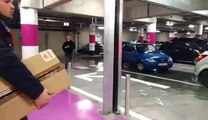 Le parking de Rive Gauche à Charleroi est déjà très très bien rempli