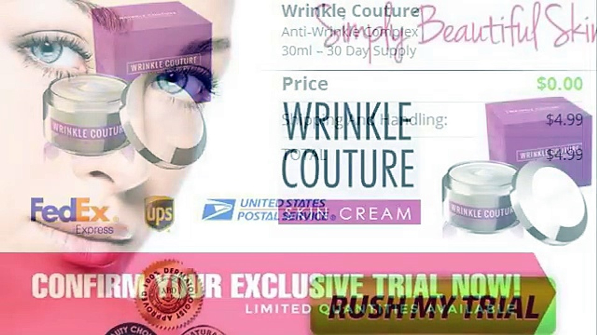 Wrinkle Couture Skin Care Cream Does It Really Work Video