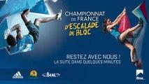 Championnat de France senior d'escalade de bloc - La Baconière 2017 - Finale Femmes