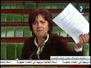 عركة في المباشر سامية عبّو تثور في وجه وزير البيئة المؤخر أنتم نتهبوا في الدولة وأنت وزير تكذب  فقطعوا عنها الصوت