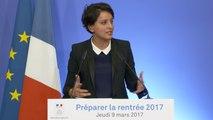[ARCHIVE] Préparer la rentrée : conférence de presse de Najat Vallaud-Belkacem présentant la circulaire de rentrée 2017