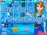 Замороженные игры Дисней для девочек: Анна Конструкция вечернее платье в HD новый
