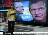 Piñera avala políticas de Macri, argentinos lo critican