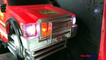 COLLECTION OF FAST LANE MIGHTY MACHINES - CITY VEHICLES COLOR CHANGING  FIREFIGHTERS AMBULANCE POLICE-SIE4rI