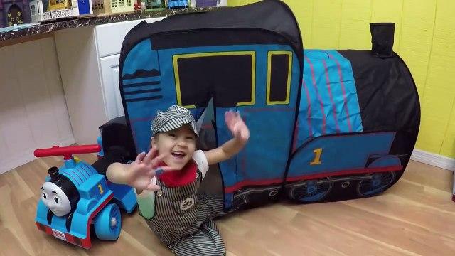 HUGE THOMAS AND FRIENDS SURPRISE TOYS TENT Egg Surprises Ride-On Train Set Toy Trains & Track Sets-HdS