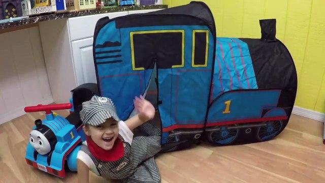 HUGE THOMAS AND FRIENDS SURPRISE TOYS TENT Egg Surprises Ride-On Train Set Toy Trains & Track Sets-H