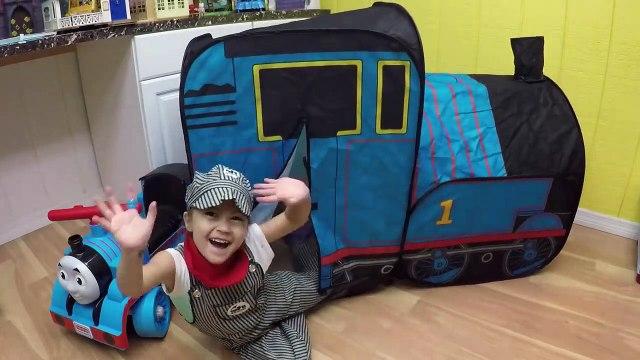 HUGE THOMAS AND FRIENDS SURPRISE TOYS TENT Egg Surprises Ride-On Train Set Toy Trains & Track Sets-HdS2qAru