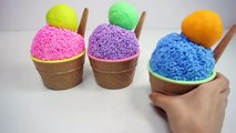 Learn Colors Clay Foam Ice Cream Cups Surprise Toys Minions Spiderman Hello Kitt