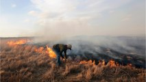 Slow Winds Bring Relief In Battling Plains Wildfires