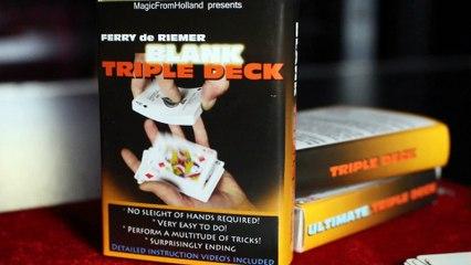Triple Deck blank by Ferry De Riemer