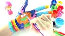 Learning Colors Video for Children Body Painting   DreamWorks Trolls Poppys True Colors Poppy