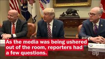 Trump repeatedly ignores reporters' questions about wiretap claims