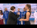 Women's 4x100m freestyle relay 34points | Victory Ceremony | 2014 IPC Swimming European Champs