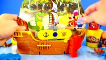 Jake And The Neverland Pirates Full Playset Magical Tiki Hideout + Play Doh & Kinder Surpr