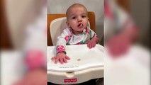 Quand ton bébé fait un truc de fou avec son cheerios... Dingue